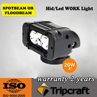 Wholesale 4 quot W CREE LED Work Light Bar LED W CREE OffRoad SUV ATV WD x4 Spot Flood Beam lm IP67 Driving Motorcycle Truck Lamp Bright