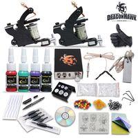 Wholesale Beginner cheap tattoo starter kits guns machines ink sets equipment needles grips tubes power DHgate DH