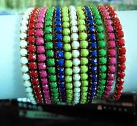 Wholesale Fashion beads bracelets tennis fluorescent color bracelet wristband bracelets anklets vervel