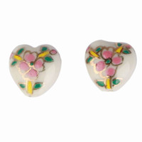 ceramic beads flower - Great Sale Flowers Shape Ceramic Loose Beads Fit DIY Pendant Charms Jewelry Craft Making ASH15