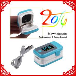 Wholesale New PulseOximeter OLED Digital Fingertip Pulse Oximeter Blood Oxygen SPO2 Probe Monitors CE and FDA approval BLUE