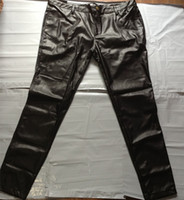 Wholesale Full Faux PU leather black pants for men Hip hop Slim Mens Skinny Pant Trousers Plus size