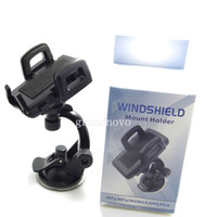 CH003 For Apple iPhone  Universal Phone Car Windshield Mount Stand Cradle Holder For iPhone4 4S iPhone 5 5S 5C Samsung Galaxy S5 S4 S3 Note 3 2 HTC ONE SONY 100pcs