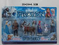 1 set Frozen PVC action Figure Play Set of 6 Anna Elsa Hans ...
