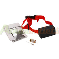 Wholesale Voice Control Electronic NO Barking Pet Training Collars Dog Shock Bark Collar with Red Gimp