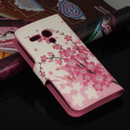 Wholesale Pink Bee Flowers PU Leather Flip Wallet Case Protective Phone Cover Skin for Motorola Moto G Case Free Screen Film