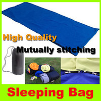 Wholesale Outdoor hiking sleeping bag summer sleeping bag envelope hooded sleeping bag amp Apple green blue gray orange Can be spliced