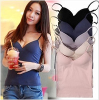 Women basic bra - Basic Comfortable Soft Cotton Tank Top Camisole With Shelf Bra See Colors amp Size