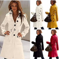 Wholesale Wool Coat Cashmere Middle_Length Women s Outerwear Coats Slim Sexy Trench Coats Large Size Ladies Cloth Overcoat