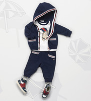 Children Brand Sets New Boys 3pieces sets T- shirt+ coat+ pants...