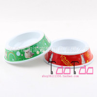 Wholesale Large melamine pet dog bowl pet bowl ceramic bowl mixed batch of single port slip pet bowl Promotion