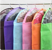 Wholesale Suit Dust Cover Bag For Clothes Flamboyant Mix color thickening non woven Storage Bags With Transparent
