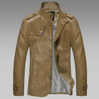 Jackets Men Cotton 2014autumn new avirex Men's clothing male outerwear PU leather male slim leather jacket