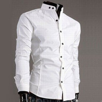 Cheap 2014 new free shiping korea stand-up collar hit color cotton man cultivating vintage shirt dudalina mens shirts casual slim fit