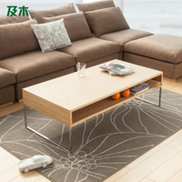 wood Coffee Tables No And stainless steel rectangular wood coffee table drawer creative wooden furniture with modern minimalist fashion CJ022110038