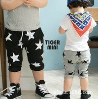 Wholesale 2014 Summer Korean version of children s clothing children s star Capri pants harem pants boys and girls
