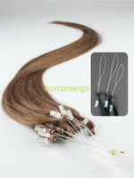 Wholesale Remy Cuticle Loop Micro Ring Human Hair Extensions g Medium Brown quot