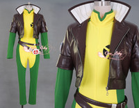 Wholesale X Men Rogue Leather Costume cosplay anime amp gloves