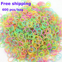 Cheap Charm Bracelets colorful Rubber Loom Band Best Children's Rubber lot rainbow