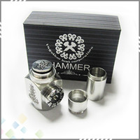 Single Stainless steel Metal 2014 Stainless Steel Hammer Mod Epipe E Cigarette Hammer Clone Mod with 2 Extension Tubes Gift Box Kit DHL Free