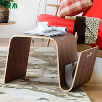 Wholesale 2014 simple and stylish wooden furniture and modern living room a few tables and creative edge Scandinavian wood small table CJ0110038