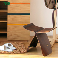 Wholesale Modern furniture and wooden stool changing his shoes simple and stylish European butterfly chair wooden stool changing his shoes110038