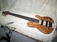 6 string bass guitar - Custom Strings Bass Guitar butterfly one piece neck Bass Guitar wood