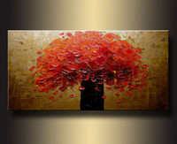 Wholesale Hand painted oil painting the beauty of the flower style oil painting impression modern wall decoration painting