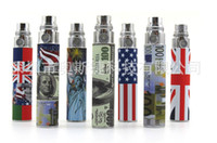 Wholesale electric cigarette battery pole sneak a toke click n vape smoking metal pipe america national flag design