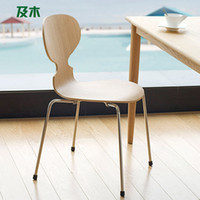 Wholesale Scandinavian minimalist wooden furniture and stylish modern stainless steel dining chair wood chair wood ants YZ010110038