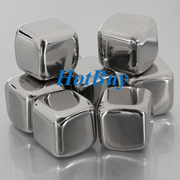 Wholesale Health Stainless Steel Glacier Rocks Neat Ice Cube Drink Chiller Whiskey Stones New
