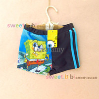 Cheap Baby swimming trunks brand cartoon boy boxer swimming pants boy beach clothes summer sport pants boy swimming short