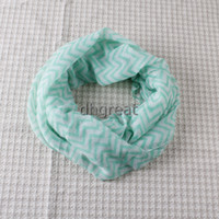 Wholesale lady scarf voile Fashion Chevron Wave Print Scarf Circle Loop Infinity Scarves