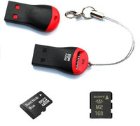 Wholesale USB Micro SD T Flash TF M2 Memory Card Reader adapter GB GB gb GB