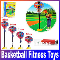2 to 4 Years Boys' Basketball Super Children Basketball Sport Set Game Toy child fitness toys adjustable indoor outdoor Kids casual Fun & Sports Free Shipping