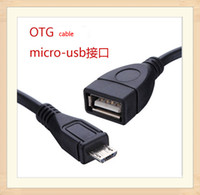 Wholesale OTG Cable Micro USB Mini USB B Male to A Female tablet pc For Cell Android Phone Phones Data Sync Chargers