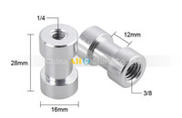 Wholesale 10PCS quot and quot Female Threaded Tripod screw Adapter to Light Stand