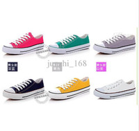 Wholesale Unisex canvas shoes Low Top amp High Sport Shoes High quality canvas shoes pairs