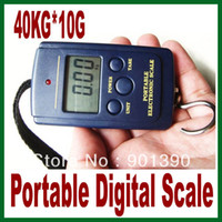 Hanging Scale <50g Yes Free Shipping 40kg x 10g Portable Mini Electronic Digital Scale Hanging Fishing Hook Pocket Weighing Balance Scale Kg Lb OZ