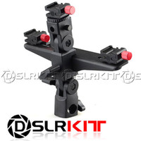 "Yes Yes TRINITY DSLRKIT Dual Triple Flash Bracket Umbrella Holder Light Stand shoe 1 4"" Screw"