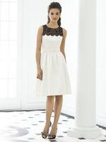 Wholesale Hot New Short Bridesmaid dresses A Line Knee Length Satin Lace Cocktail dresses Party dress