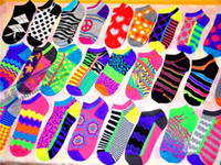 Foot Cover Women Cotton fashion new hot-selling cotton female boat short vintage color block candy color print women socks skateboard socks fall winter