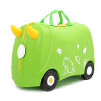 Wholesale 2014 HOT PP Plastic Children Suitcase Ride on suitcase In luggage