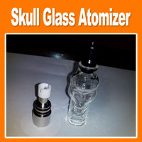 Electronic Cigarette Atomizer as pictures Skull Wax Glass Globe Tank Dry Herb Vaporizer Clearomizer Atomizer Small Size Ego Series Electronic Cigarette(0203047)