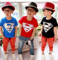 Wholesale hot selling summer wear baby t shirts superman batman short sleeve cotton t shirt for boys Freeshipping