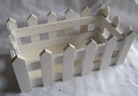 Wholesale wooden pot wood fence planter tray garden White color cm