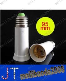 envío gratis 600pcs/lote E27 E27 Adaptador Extended Convertidor adaptador de iluminación Led bombilla de la lámpara adaptador de extensión 95mm MYY106