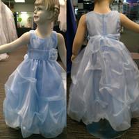 2014 Pincess линии Возьмите органзы Детские платья с ручной цветок Sash Dhyz 01