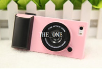 Wholesale 3D fashion Cute Toy Digital Camera Design Candy Color Hard Silicone Back Cover Skin Case iphone case iphone s cases DHL free