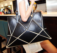 Wholesale 2014 designer Euro bags fashion cubic totes bags designer handbags geometric drawing handbag beautiful cube shoulder bags totes Lady